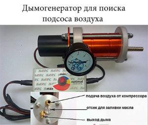 Дымогенератор для поиска подсоса