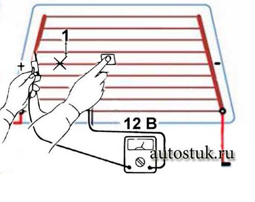 Диагностика и ремонт системы обогрева заднего стекла на автомобиле ВАЗ 2107