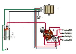 установка бесконтактного зажигания схема