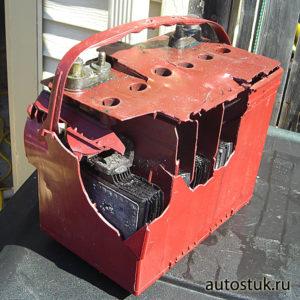 взорвался автомобильный аккумулятор при зарядке