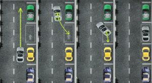 схема парковки задним ходом