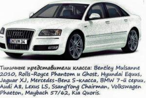 автомобили Ф класса