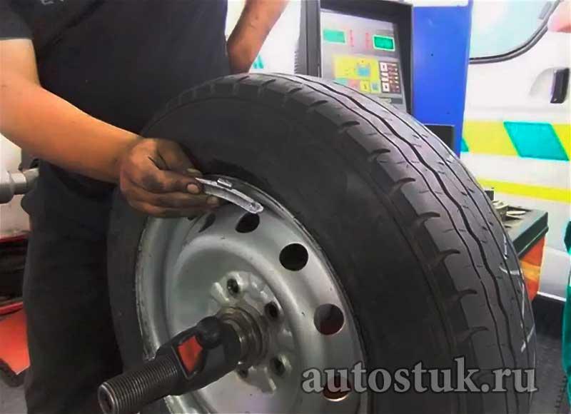 балансировка колес машины