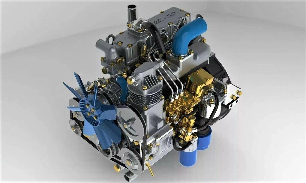 Самый маленький дизельный двигатель ММЗ-3LD